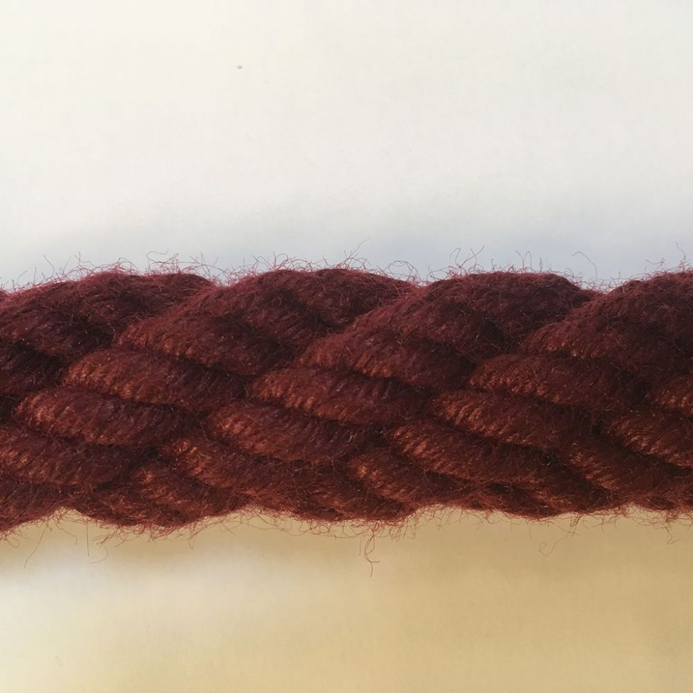 28mm Burgundy Cable Laid Bannister Ropes